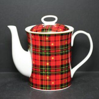 Scottish Red Plaid Teaset